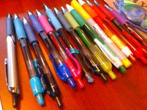 Rainbow of pens. 2013 Copyright Melanie Arrowood Wilcox