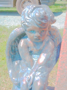 Cherub Pine Hill Cemetery; Burlington, NC 2014 Copyright Melanie Arrowood Wilcox